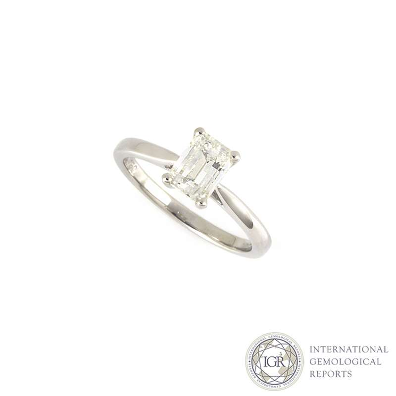 cdcca91ec9a421 18k White Gold Millenium Cut Diamond Ring 1.09ct J/VS1 - Rich Diamonds Of  Bond Street
